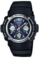 Casio Awg-m100-1aer G-shock Waveceptor Chronograph Plastic Strap Watch, Black