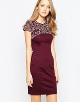French Connection Aspen Sequin Capsleeve Dress