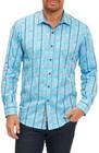 mens robert graham kannan egyptian cotton sport shirt