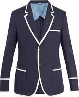 Gucci Contrast-trim cotton-blend jacket