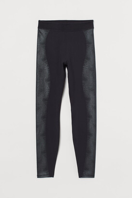 H&M High Waist Sports Leggings - Black