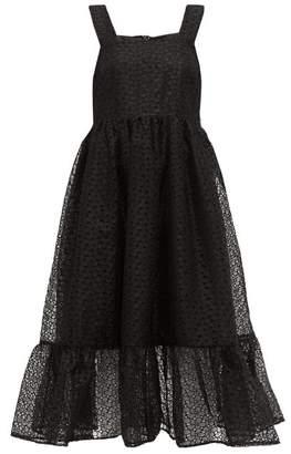 Shrimps Sylvia Floral-organza Pinafore Dress - Womens - Black
