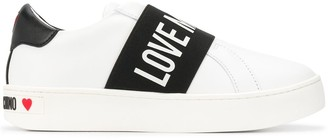 Love Moschino logo slip-on sneakers