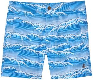 retromarine | Yoshino Japanese Waves Printed Swim Short