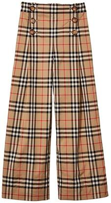 BURBERRY KIDS Tilda Trousers (Little Kids/Big Kids) (Archive Beige IP Check) Girl's Clothing