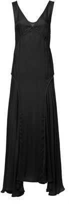 Jil Sander Marigold Asymmetric Satin Maxi Dress