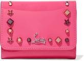 Christian Louboutin Macaron Spiked Patent-leather Wallet - Fuchsia