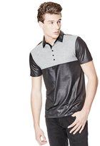 GUESS Mason Short-Sleeve Color-Blocked Polo