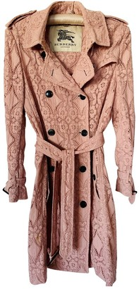 Burberry Pink Cotton Trench Coat for Women