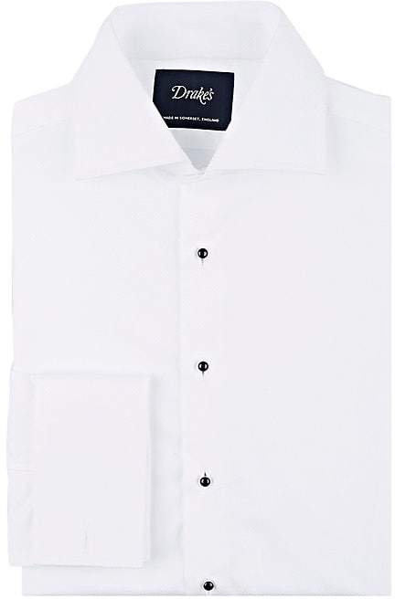 Drakes Drake's Men's Piqué Dress Shirt