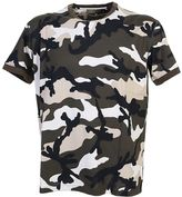 Valentino Camouflage Cotton T-shirt With Stud