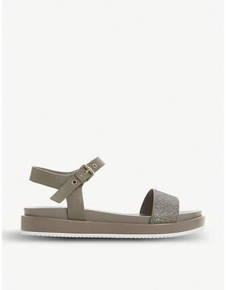 Dune Lugo glittered leather sandals