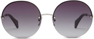 Oliver Goldsmith Sunglasses The 1970s Smoke & Armani Gold Silver