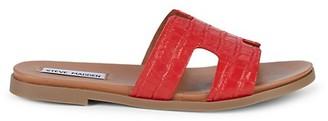 Steve Madden Dariella Croco-Embossed Slide Sandals