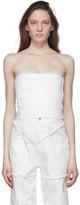Ambush White Knit Tube Top