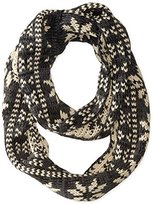 BearPaw Women's Knit Infinity Scarf with Fairisle Pattern