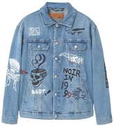 Mango Denim Jacket Light Blue