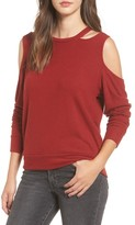 LnA Women's Earl Cold Shoulder Sweatshirt