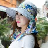 Kangkang @ Sun hat summer sun block uv outdoors Blue etheria hat female beach summer hats caps to travel