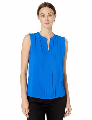 Calvin Klein Women's Pleat Front Sleeveless Top