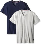 Psycho Bunny Men's 2-Pack Motion Cotton V-Neck Tee