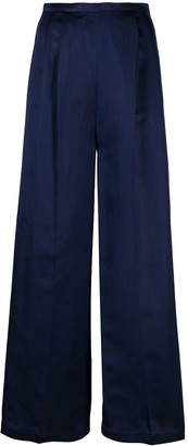 Semi-Couture Pleated Palazzo Trousers