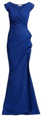 Chiara Boni Egea Cap-Sleeve Jersey Gown
