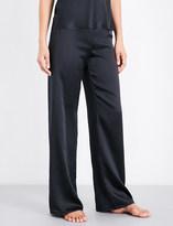 Marjolaine Soie Unie silk-satin pyjama bottoms