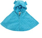 MyBlankee My Blankee Minky Dot Hooded Cape for Baby, Turquoise, 6-12 Months