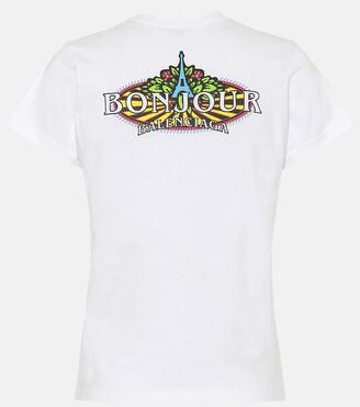 Balenciaga Bonjour cotton T-shirt