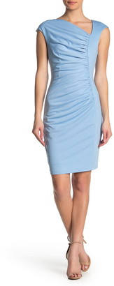 Alexia Admor Brooke Asymmetric Ruched Sheath Dress