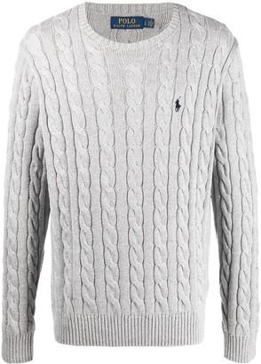 Polo Ralph Lauren Logo-Patch Cable-Knit Jumper