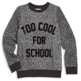 Eleven Paris Little Girl's & Girl's Too Cool for School Sweatshirt