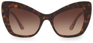 Dolce & Gabbana 54MM Cat Eye Baroque Sunglasses