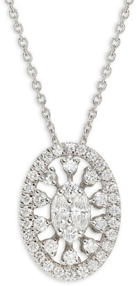 Saks Fifth Avenue 14K White Gold & Diamond Pendant Necklace