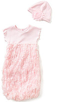Starting Out Baby Girls Newborn-6 Months Rosette Tulle Gown and Hat