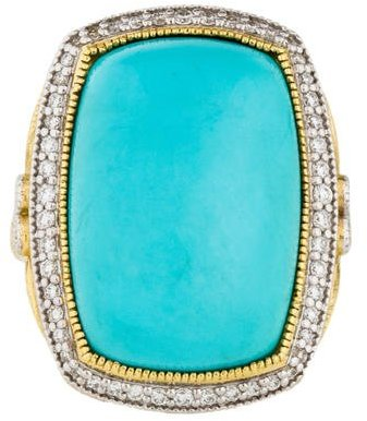 Jude Frances 18K Turquoise & Diamond Ring
