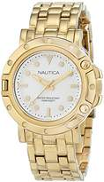Nautica Women's 'NST 800' Quartz Stainless Steel Casual Watch, Color:Silver-Toned (Model: NAD17529L)