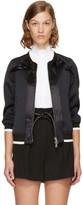 3.1 Phillip Lim Blue Ruffled Bomber Jacket