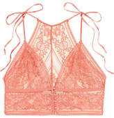 Stella McCartney Ophelia Whistling Stretch-leavers Lace Soft-cup Bra - Blush