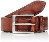Harris Men's Burnished Smooth Leather Belt-BROWN