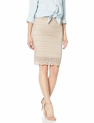 BCBGeneration Women's Crochet-Trimmed Pencil Skirt