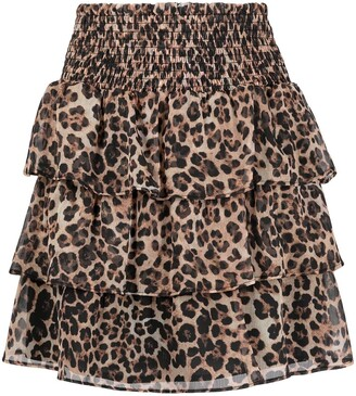 Liu Jo Leopard Ruffle Skirt