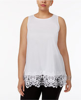 Alfani Plus Size Lace-Hem Tunic, Created for Macy's