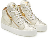 Giuseppe Zanotti Croc-Embossed Leather High-Tops