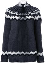 RED Valentino chrevron detail jumper
