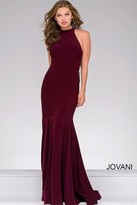Jovani Jersey High Neck Fitted Prom Dress 50487