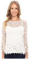 KUT from the Kloth Lola 3/4 Sleeve Crochet Sweater
