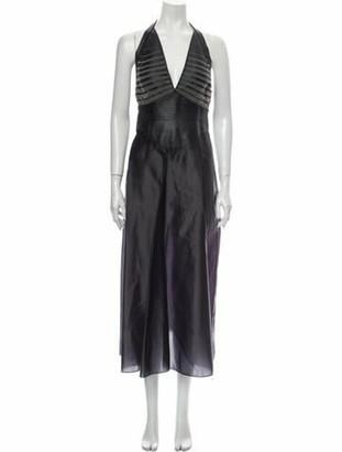 Fendi Silk Midi Length Dress Black