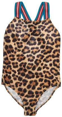 Molo Leopard Print Lycra One Piece Swimsuit